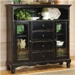 Wilshire Baker's Cabinet in Rubbed Black Finish by Hillsdale Furniture - 4509-854