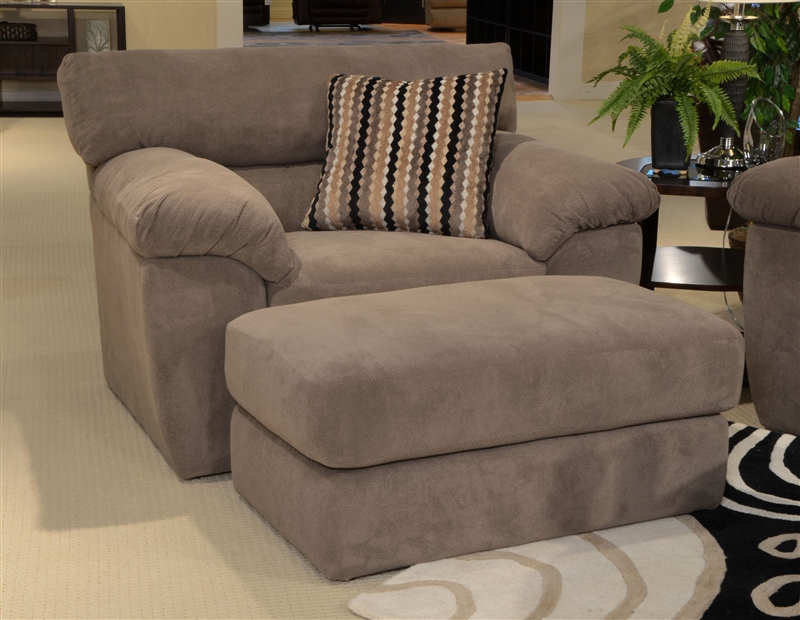 Grayson Oversized Chair In Granite Fabric By Jackson Furniture 3186 01
