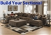Ferguson BUILD YOUR OWN Sectional in Chocolate Fabric by Jackson - 4305