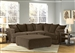 Ferguson 3 Piece Sectional in Chocolate Fabric by Jackson - 4305-3