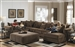 Ferguson 4 Piece Sectional in Chocolate Fabric by Jackson - 4305-4