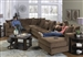 Ferguson 5 Piece Sectional in Chocolate Fabric by Jackson - 4305-5