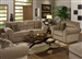 "Mesa 2 Piece Sofa Sleeper, Loveseat Set in ""Tan"" Fabric by Jackson Furniture - 4366-T-SS"