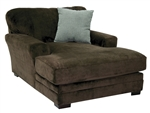 Whitney Chaise in Chocolate Fabric by Jackson - 4397-09