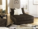 Axis Daybed Chaise Lounger in Chocolate Chenille Fabric by Jackson Furniture - 4429-38