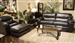 Brantley 2 Piece Sofa Sleeper, Loveseat Set in Java Leather by Jackson Furniture - 4430-SS