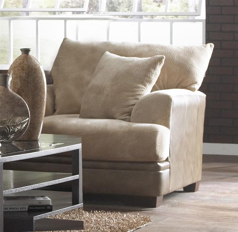 Barkley Oversized Chair In Toast Fabric By Jackson