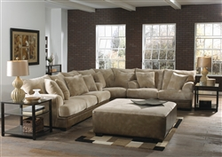 Barkley 3 Piece Sectional in Toast Fabric by Jackson Furniture - 4442-SEC-T
