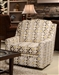 "Sutton Accent Swivel Chair in ""Cobblestone"" Canary Geometric Pattern Fabric by Jackson - 722-21-C"