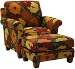 Hartwell Nugget Accent Chair in Pattern Fabric by Jackson - 798-27