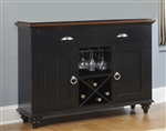 Abbey Court Buffet in Black and Cherry Finish by Liberty Furniture - LIB-111-CB4866