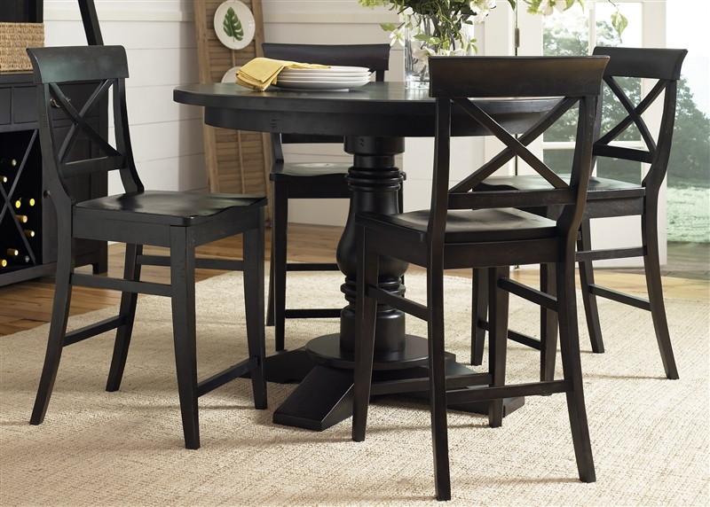 Sundance Lake Round Pedestal Counter Height Table 5 Piece  : LIB 126 GT4848 2 from www.homecinemacenter.com size 800 x 572 jpeg 387kB