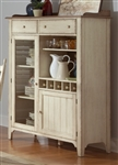 Cottage Cove Display Cabinet in Distressed Weathered Ivory & Maple Finish by Liberty Furniture - LIB-157-CH4863