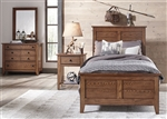 Grandpa's Cabin Youth Panel Bed Bedroom Set in Aged Oak Finish by Liberty Furniture - 175-YBR-P