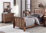 Grandpa's Cabin Youth Sleigh Bed Bedroom Set in Aged Oak Finish by Liberty Furniture - 175-YBR-S