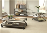 Avignon Occasional Tables in Pewter and Rustic Brown Finish by Liberty Furniture - 197-OT