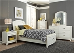 Avalon Youth Panel Storage Bed Bedroom Set in White Truffle Finish by Liberty Furniture - 205-YBR-PS