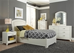 Avalon Youth Upholstered Bed Bedroom Set in White Truffle Finish by Liberty Furniture - 205-YBR-TLB