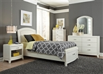 Avalon Youth Upholstered Storage Bed Bedroom Set in White Truffle Finish by Liberty Furniture - 205-YBR-TLS