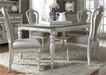 Magnolia Manor 44 x 108 Rectangular Table 5 Piece Dining Set in Antique White Finish by Liberty Furniture - 244-DR-O5RLS