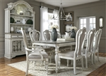 Magnolia Manor 44 x 108 Rectangular Table 7 Piece Dining Set in Antique White Finish by Liberty Furniture - 244-DR-O7RLS