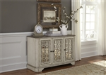 Magnolia Manor 51 Inch TV Console Accent Cabinet in Antique White Finish by Liberty Furniture - 244-OT1031