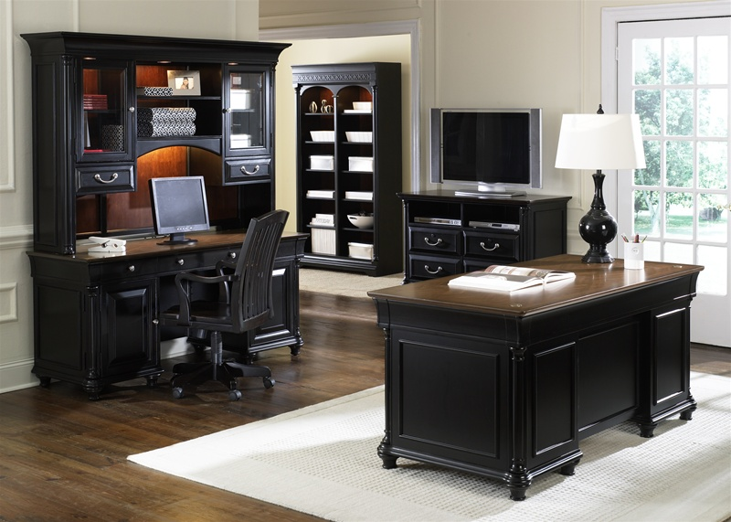 St ives 5 piece jr executive home office set in two tone Home office desks