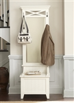 Hearthstone Hall Tree in Rustic White Finish by Liberty Furniture - 282-HT