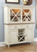 Ocean Isle Buffet and Hutch in Bisque with Natural Pine Finish by Liberty Furniture - 303-CH4866