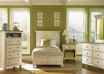 Ocean Isle Youth Panel Bed 4 Piece Bedroom Set in Bisque with Natural Pine Finish by Liberty Furniture - 303-YBR