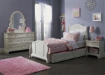 Arielle 4 Piece Youth Bedroom Set in Antique White Finish by Liberty Furniture - 352-YBR
