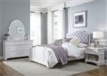 Arielle 4 Piece Youth Bedroom Set in Antique White Finish by Liberty Furniture - 352-YBR-TPBDMN