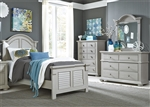 Summer House 4 Piece Youth Bedroom Set in Grey Finish by Liberty Furniture - 407-BR-Y