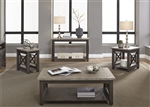 Heatherbrook Coffee Table in Charcoal and Ash Finish by Liberty Furniture - 422-OT