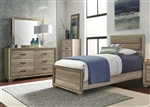 Sun Valley Upholstered Bed Youth Bedroom Set in Sandstone Finish by Liberty Furniture - 439-BR-TUB