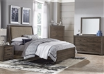 Clarksdale Upholstered Bed 4 Piece Youth Bedroom Set Walnut Finish by Liberty Furniture - 445-BR-TUB