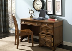 Beacon Home Office Desk in Oak Finish by Liberty Furniture - 451-HO106
