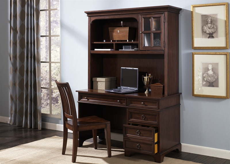 beacon 3 piece home office set in cherry finish by liberty furniture 452 ho home office furniture cherry finished