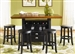 Pub Casual Dining 5 Piece Center Island Table Set in Rubbed Black & Cherry Finish by Liberty Furniture - 47-PUB
