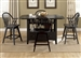 Hearthstone 5 Piece Center Island Set in Black Finish by Liberty Furniture - 482-GT3660