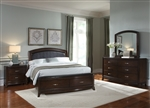Avalon Upholstered Storage Bed 6 Piece Bedroom Set in Dark Truffle Finish by Liberty Furniture - 505-BR23HL