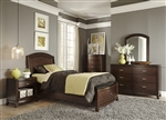 Avalon Youth Panel Storage Bed Bedroom Set in Dark Truffle Finish by Liberty Furniture - 505-YBR-PS