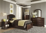Avalon Youth Upholstered Storage Bed Bedroom Set in Dark Truffle Finish by Liberty Furniture - 505-YBR-TLS