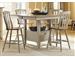 Al Fresco 5 Piece Gathering Table Set in Driftwood & Taupe Finish by Liberty Furniture - 541-GT5454-5