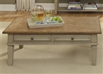 Bungalow Cocktail Table in Driftwood & Taupe Finish by Liberty Furniture - 541-OT
