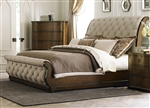 Cotswold Upholstered Sleigh Bed in Cinnamon Finish by Liberty Furniture - 545-BR21H