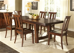 Tahoe Trestle Table 5 Piece Dining Set in Mahogany Stain Finish by Liberty Furniture - 555-T4090