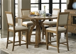 Town & Country Counter Height Gathering Table 5 Piece Dining Set in Sandstone Finish by Liberty Furniture - LIB-603-GT5454