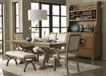 Town & Country Trestle Table 6 Piece Dining Set in Sandstone Finish by Liberty Furniture - LIB-603-P4296