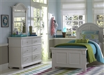 Summer House 4 Piece Youth Bedroom Set in Oyster White Finish by Liberty Furniture - 607-BR-TPBDM